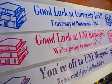 Good Luck At University Banner
